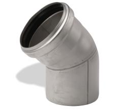 ACO 110 mm 30° rustfri afløbsbøjning, AISI 304