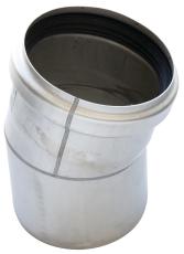 ACO 110 mm 15° rustfri, syrefast afløbsbøjning, AISI 316