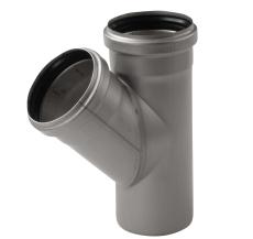 ACO 110 mm 45° rustfri afløbsgrenrør, AISI 304