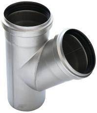 ACO 110 mm 45° rustfri, syrefast afløbsgrenrør, AISI 316