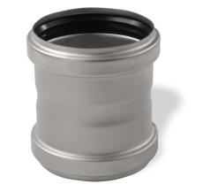 ACO 110 mm rustfri afløbsdobbeltmuffe, AISI 304