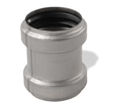 ACO 75 mm rustfri, syrefast afløbsskydemuffe, AISI 316