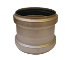 ACO 110 mm rustfri, syrefast afløbsskydemuffe, AISI 316