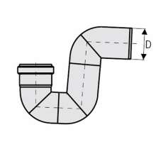 ACO 110 mm rustfri, syrefast P-vandlås, AISI 316