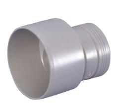 Wavin 110 x 90 mm grå PP-afløbsreduktion