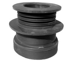 PURUS kombinippel 96-83/75-50 mm TPE PURUS t/PVC/MA rør sort