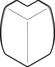 UDV HJØRNE DECORA 54/20 PH