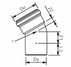 110 mm x 30° Asto bøjning Wavin