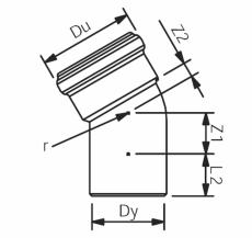160 mm x 30° Wavin Asto bøjning