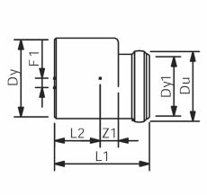 160 x 110 mm Wavin Asto reduktion excentrisk