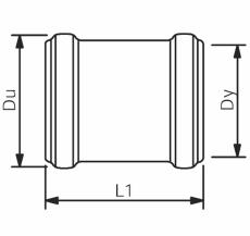 160 mm Wavin Asto skydemuffe