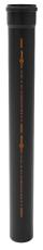 Ø 110 mm x 500 mm Rør med muffe Phonoblack