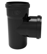 Ø 50 mm/50 mm x 87° Grenrør Phonoblack