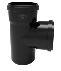 Ø 110 mm/110 mm x 87° Grenrør Phonoblack