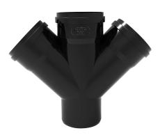 Ø 110 mm/110 mm X 45° Dobbelt Gre Phonoblack