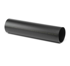 Geberit 56 x 5000 mm sort PEH-afløbsrør uden muffe