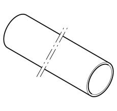 Geberit 75 x 5000 mm sort PEH-afløbsrør uden muffe