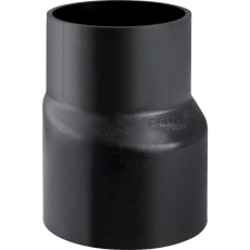160 x 110 mm Reduktion excentrisk sort PEH Geberit
