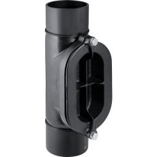 200 mm Renserør med ovalt dæksel sort PEH Geberit