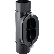 250 mm Renserør med ovalt dæksel sort PEH Geberit