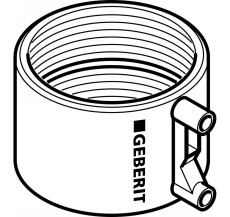 Geberit 110 mm sort PEH EL-svejsemuffe