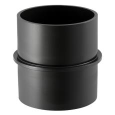 40 mm Bryststykke sort PEH Geberit