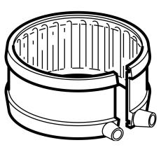 75 mm Fix-bånd sort PEH Geberit