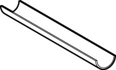 75 x 3000 mm Støtterende Geberit