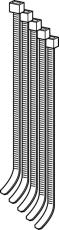 4,8 x 410 mm Strips á 500 stk. Geberit