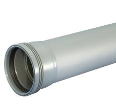 Wavin 40 x 1000 mm grå PP-afløbsrør med muffe