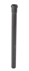 40 x 2000 mm Afløbsrør PP grå