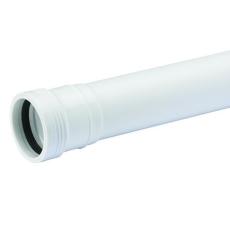 50 x 500 mm hvid Wafix PP rør med muffe