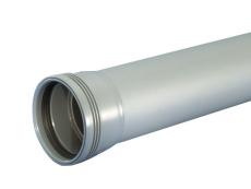 Wavin 110 x 1000 mm grå PP-afløbsrør med muffe