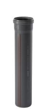 110 x 2000 mm Afløbsrør PP grå