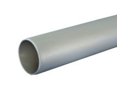 40 x 3000 mm Rør afløb grå uden muffe PP Wavin