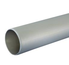 110 x 6000 mm Rør afløb grå uden muffe PP Wavin