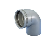 Wavin 40 mm 87° grå PP-afløbsbøjning