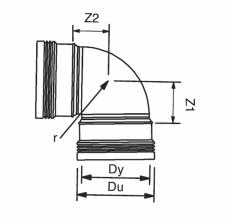 75 mm x 88,5° plus bøjning Wafix PP