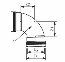 110 mm x 88,5° plus bøjning Wafix PP lang