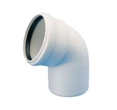 50 mm x 67,5° Bøjning afløb hvid PP
