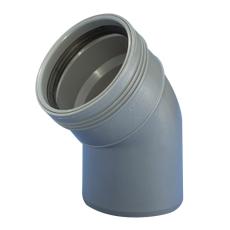 Wavin 40 mm 45° grå PP-afløbsbøjning