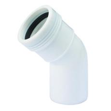 50 mm x 45° Wafix PP bøjning hvid
