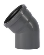 110 mm x 45° Bøjning afløb PP grå