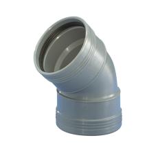75 mm x 45°  Wafix plus pp bøjning grå
