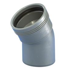 Wavin 40 mm 30° grå PP-afløbsbøjning