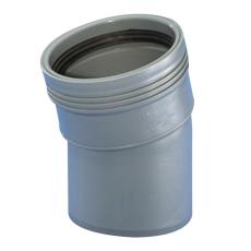 Wavin 40 mm 15° grå PP-afløbsbøjning