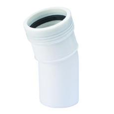 40 mm x 15° Wafix PP bøjning hvid