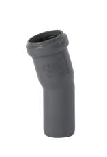 32 mm x 15° Bøjning afløb PP grå