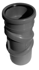 75 mm Bøjning muffe/nippel afløb grå PP Purus JF