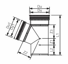 110 x 75 mm x 67° Wafix PP grenrør